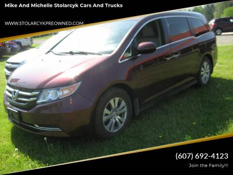 2016 Honda Odyssey for sale at Mike and Michelle Stolarcyk Cars and Trucks in Whitney Point NY
