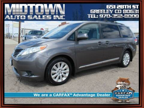2012 Toyota Sienna for sale at MIDTOWN AUTO SALES INC in Greeley CO