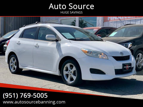 2009 Toyota Matrix for sale at Auto Source in Banning CA