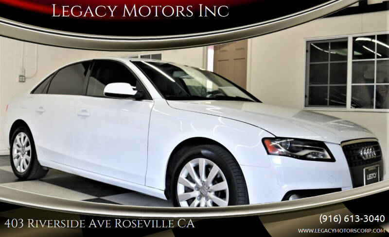 2012 Audi A4 for sale at Legacy Motors Inc in Roseville CA
