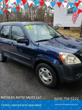 2005 Honda CR-V for sale at NICOLES AUTO SALES LLC in Cream Ridge NJ