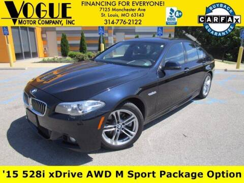 2015 BMW 5 Series for sale at Vogue Motor Company Inc in Saint Louis MO