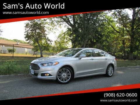 2014 Ford Fusion for sale at Sam's Auto World in Roselle NJ