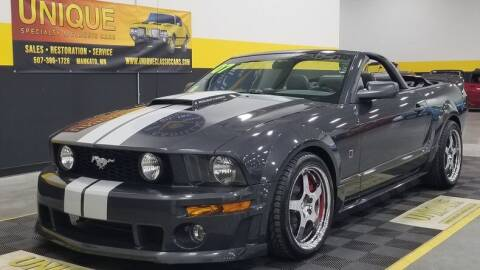 2007 Ford Mustang for sale at UNIQUE SPECIALTY & CLASSICS in Mankato MN