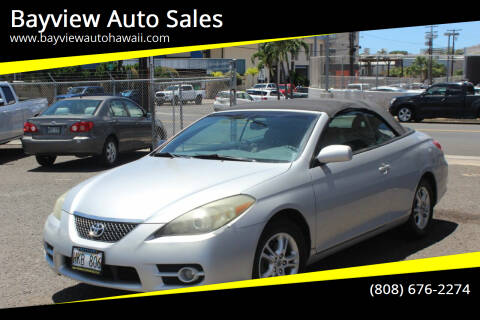 2008 Toyota Camry Solara for sale at Bayview Auto Sales in Waipahu HI