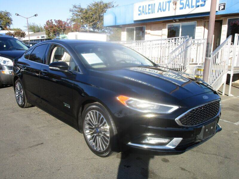 2017 Ford Fusion Energi for sale at Salem Auto Sales in Sacramento CA