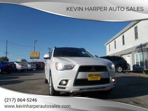 2011 Mitsubishi Outlander Sport for sale at Kevin Harper Auto Sales in Mount Zion IL