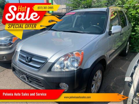 2005 Honda CR-V for sale at Polonia Auto Sales and Service in Hyde Park MA