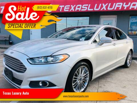 2013 Ford Fusion for sale at Texas Luxury Auto in Cedar Hill TX