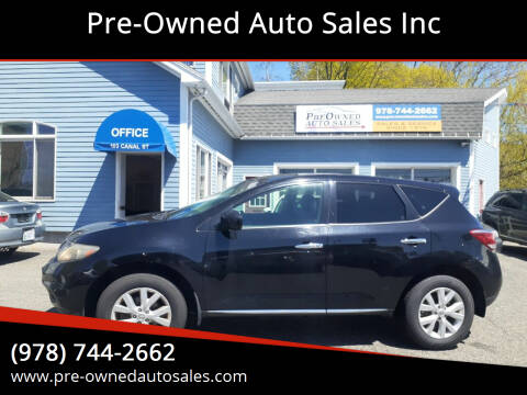 2011 Nissan Murano for sale at Pre-Owned Auto Sales Inc in Salem MA