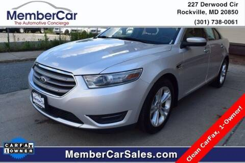 2013 Ford Taurus for sale at MemberCar in Rockville MD