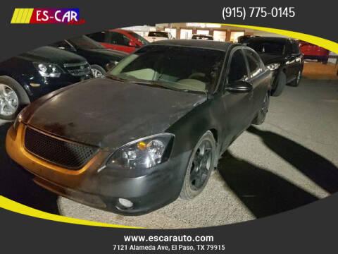 2002 Nissan Altima for sale at Escar Auto in El Paso TX
