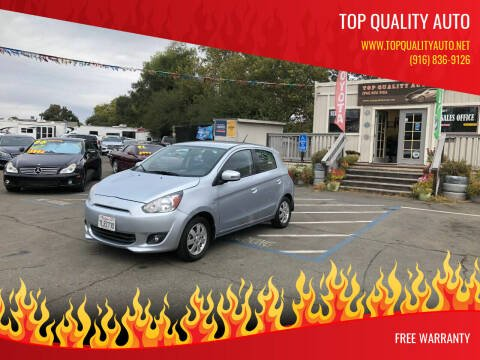 2015 Mitsubishi Mirage for sale at TOP QUALITY AUTO in Rancho Cordova CA