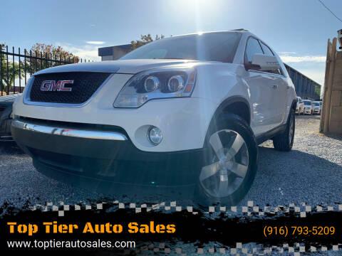 2012 GMC Acadia for sale at Top Tier Auto Sales in Sacramento CA