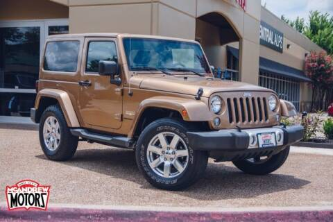 2015 Jeep Wrangler for sale at Mcandrew Motors in Arlington TX