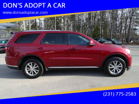 2014 Dodge Durango for sale at DON'S ADOPT A CAR in Cadillac MI