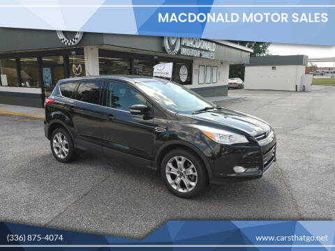 2013 Ford Escape for sale at MacDonald Motor Sales in High Point NC