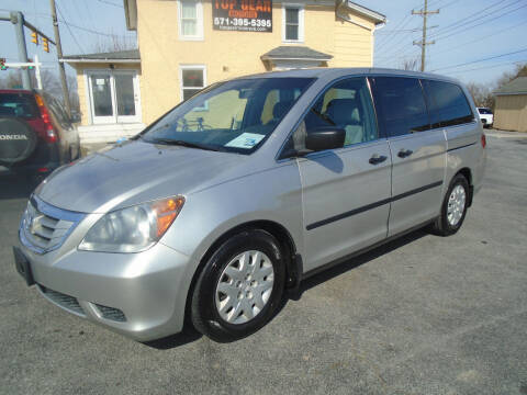 2009 Honda Odyssey for sale at Top Gear Motors in Winchester VA
