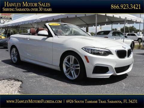 2016 BMW 2 Series for sale at Hawley Motor Sales in Sarasota FL