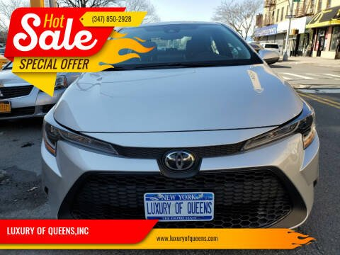 2021 Toyota Corolla for sale at LUXURY OF QUEENS,INC in Long Island City NY