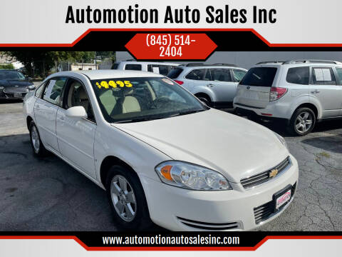 2008 Chevrolet Impala for sale at Automotion Auto Sales Inc in Kingston NY