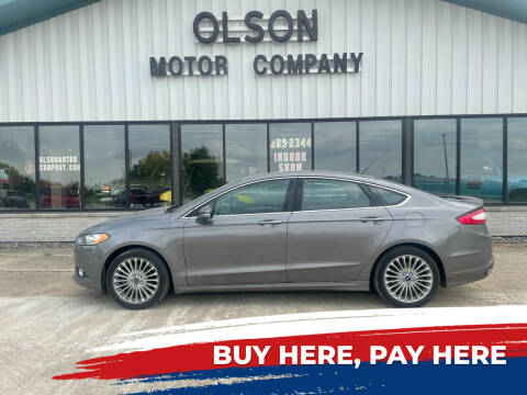 2014 Ford Fusion for sale at Olson Motor Company in Morris MN