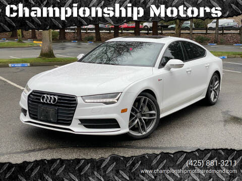 2016 Audi A7 for sale at Championship Motors in Redmond WA
