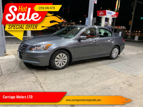 2012 Honda Accord for sale at Carriage Motors LTD in Ingleside IL