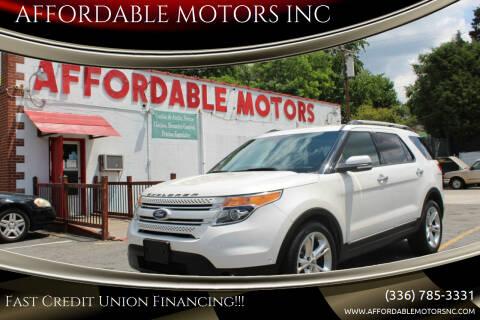 2011 Ford Explorer for sale at AFFORDABLE MOTORS INC in Winston Salem NC