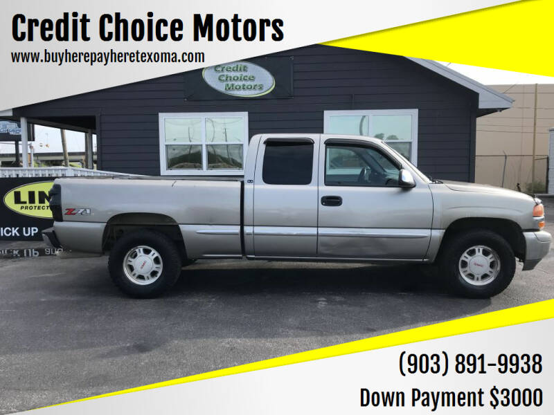2002 GMC Sierra 1500 for sale at Credit Choice Motors in Sherman TX