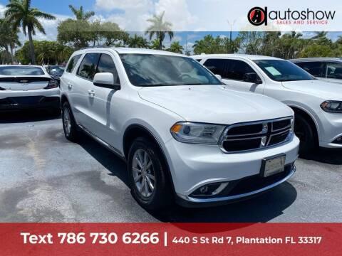 2017 Dodge Durango for sale at AUTOSHOW SALES & SERVICE in Plantation FL