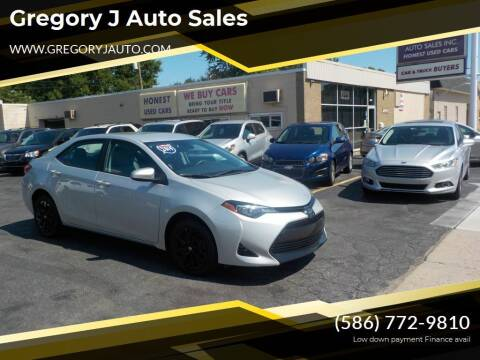 2019 Toyota Corolla for sale at Gregory J Auto Sales in Roseville MI