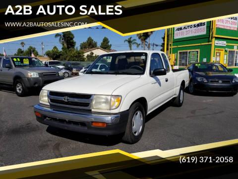 1998 Toyota Tacoma for sale at A2B AUTO SALES in Chula Vista CA