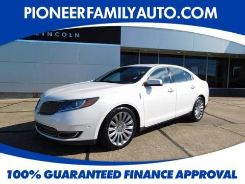 2013 Lincoln MKS for sale at Pioneer Family Preowned Autos in Williamstown WV