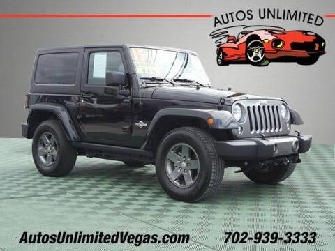 2015 Jeep Wrangler for sale at Autos Unlimited in Las Vegas NV