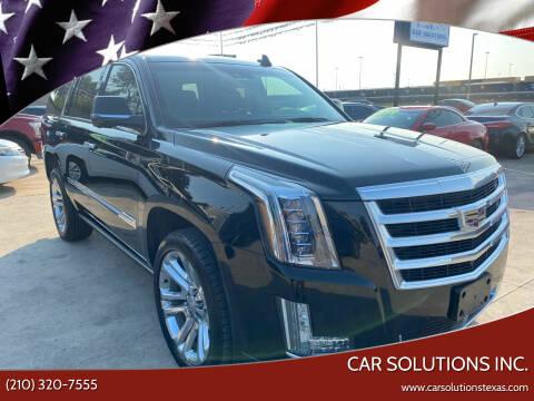 2015 Cadillac Escalade for sale at Car Solutions Inc. in San Antonio TX