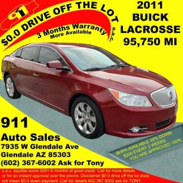 2011 Buick LaCrosse for sale at 911 AUTO SALES LLC in Glendale AZ