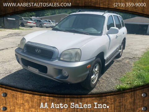 2004 Hyundai Santa Fe for sale at AA Auto Sales Inc. in Gary IN