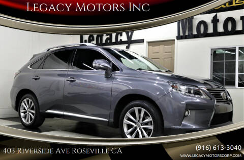 2015 Lexus RX 350 for sale at Legacy Motors Inc in Roseville CA