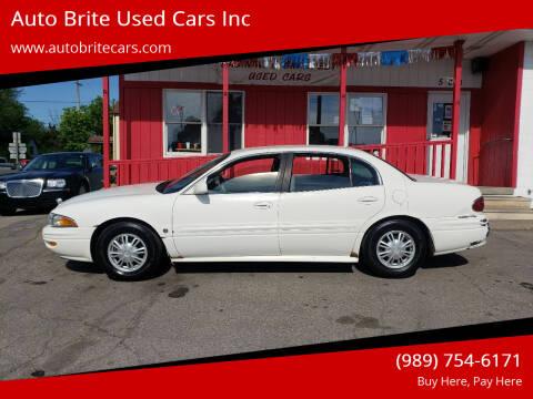 2002 Buick LeSabre for sale at Auto Brite Used Cars Inc in Saginaw MI