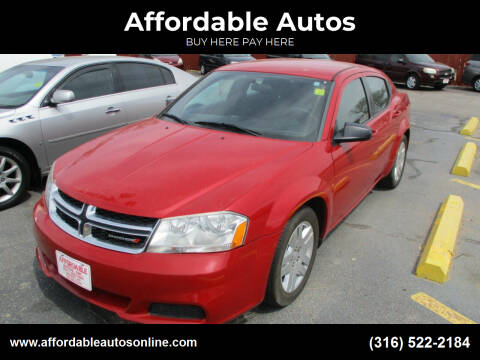 2014 Dodge Avenger for sale at Affordable Autos in Wichita KS