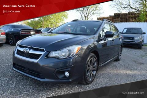2012 Subaru Impreza for sale at American Auto Center in Austin TX