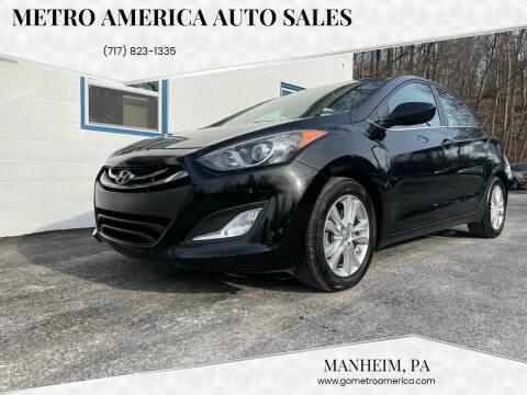 2013 Hyundai Elantra GT for sale at METRO AMERICA AUTO SALES of Manheim in Manheim PA