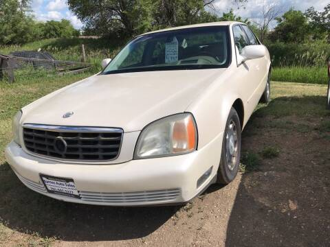 2002 Cadillac DeVille for sale at BARNES AUTO SALES in Mandan ND