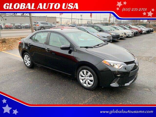 2016 Toyota Corolla for sale at GLOBAL AUTO USA in Saint Paul MN