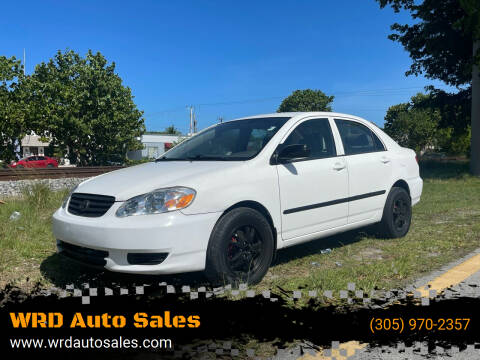 2003 Toyota Corolla for sale at WRD Auto Sales in Hollywood FL