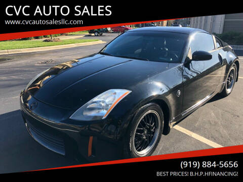 2004 Nissan 350Z for sale at CVC AUTO SALES in Durham NC