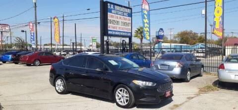 2015 Ford Fusion for sale at S.A. BROADWAY MOTORS INC in San Antonio TX
