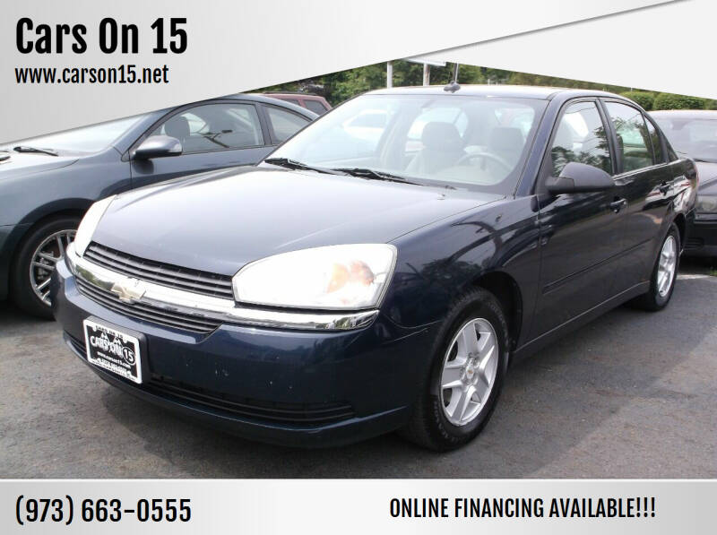 2004 Chevrolet Malibu for sale at Cars On 15 in Lake Hopatcong NJ
