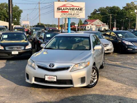 2011 Toyota Camry Hybrid for sale at Supreme Auto Sales in Chesapeake VA